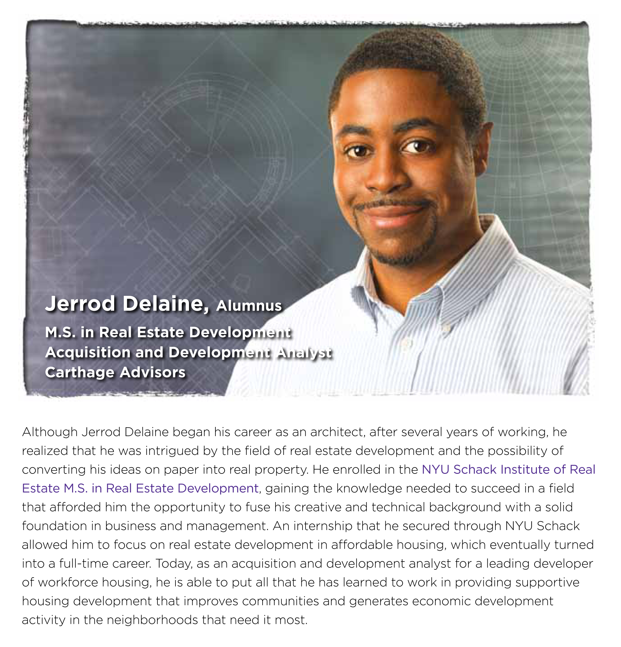 Jerrod Delaine – New York University Advertisement